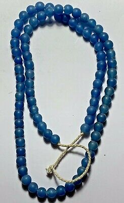 Egyptian Glass Blue Beads Necklace Circa Very Nice And Interest