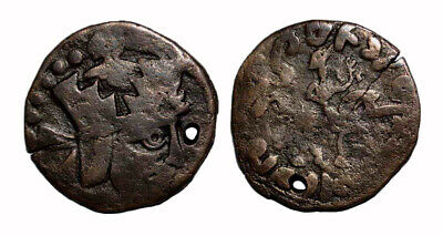 (15063) Ancient Khwarizm AE, The Afrighid dynasty, late 6th C. - AD 995.
