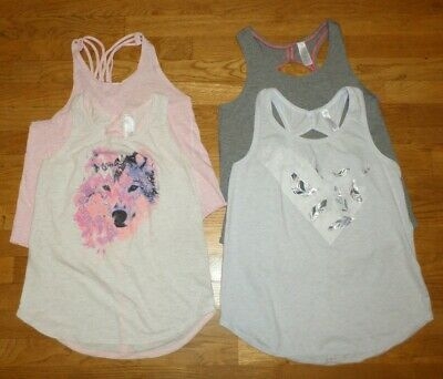girls IVIVVA by lululemon girls tank top shirt lot of 4 size 12/14