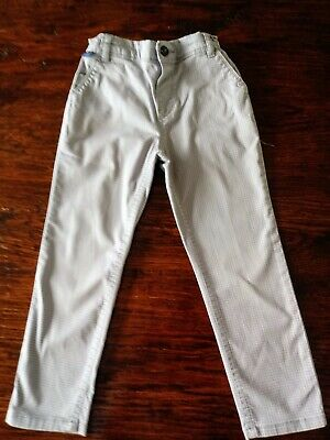 Ted Baker Age 4-5 Yr Lovely Grey Dogstooth Check Trousers VGC