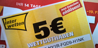 Interwetten - 5 EUR Gutschein TV Digital