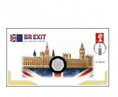 2020 Brexit 50p Brilliant Uncirculated Coin Cover