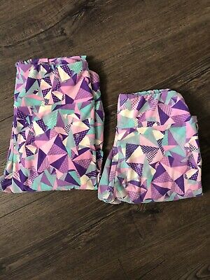 LuLaRoe SET Mommy & Me Women's OS Leggings Girls Tween.