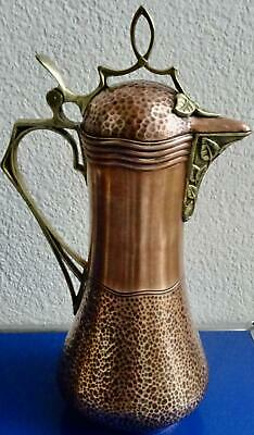 Superb  Art Nouveau Copper & Brass Jug, Pitcher