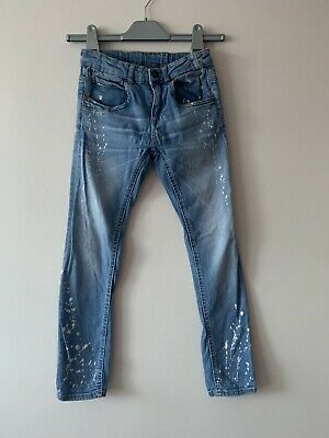Boys Zara Washed Out Blue Jeans Size 8
