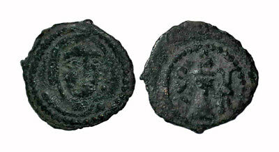 (15096) Bukhara Soghd AE coin, Unknown ruler.