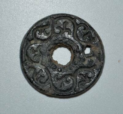 (15137) Soghdian bronze charm or button.