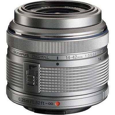 Olympus M.Zuiko 14-42mm f/3.5-5.6 II R Lens For Four Thirds (Silver) Brand New!