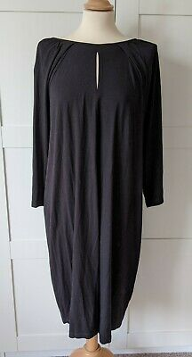 Isabella Oliver Black Jersey Maternity Dress Uk 14 Great Condition