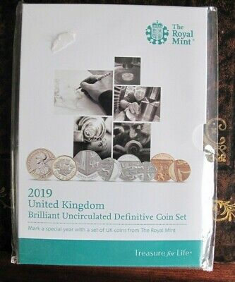 2019 Royal Mint Brilliant Uncirculated Definitive Coin Set