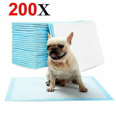200 Dog Training Pads Toilet Pee Wee Mats Pet Puppy Cat Dog Absorbent Trainer Uk