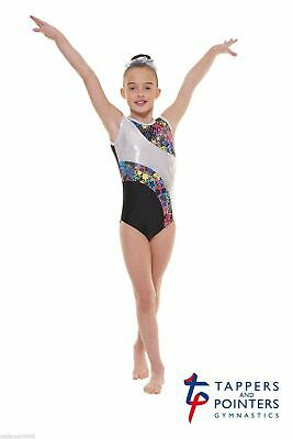 Girls Gymnastic Leotard - Tappers & Pointers GYM39 Black Size 3 (Size UK 10)