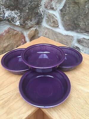 """set 4 MEDIUM CEREAL SOUP BOWL Mulberry 6 7/8"""" FIESTA WARE New Retired Color"""