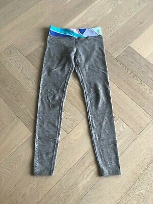 IVIVVA By Lululemon Girls Size 12 Full Length Gray Leggings Yoga Athletic Pants