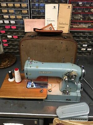Vintage German Durkopp 1001 Electric Sewing Machine With Instructions. Working.