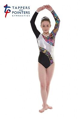 Girls Gymnastic Leotard - Tappers & Pointers GYM40 Black Size 3 (UK size 10)