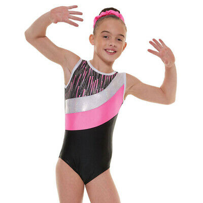 Girls Gymnastic Leotard - Tappers & Pointers GYM43 Pink Size 3 (UK size 10)