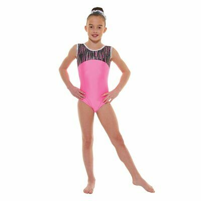 Girls Gymnastic Leotard - Tappers & Pointers GYM45 Pink Size 3a(approx 11-12yrs)