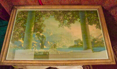 """Antique Framed Print of Maxfield Parrish's famous """"Daybreak."""""""