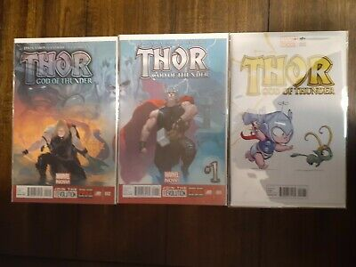 Thor: God of Thunder #1, 2, Lot (NM+) 1st Gorr The God Butcher Scottie Young