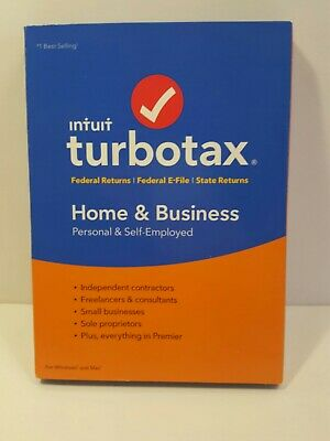 2018 Intuit Turbotax Home & Business Personal Self-Employed Tax Software