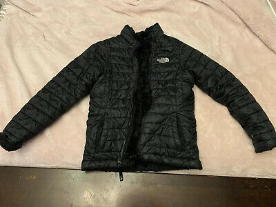 The North Face - Girls Mossbud reversible Jacket size Medium (10-12) - Black!!