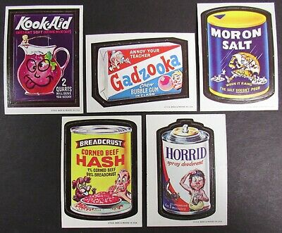 1967 Topps Wacky Packages Die Cut Lot of Sticker 5 Cards #13, #20, 21, #28, #30