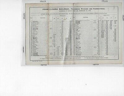 1896 Pennsylvania Railroad Time Table