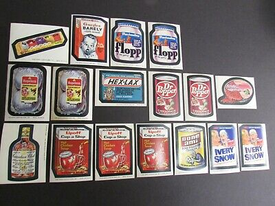 1974 Topps Wacky Packages Series #7-#8 Lot of 17 Sticker Cards