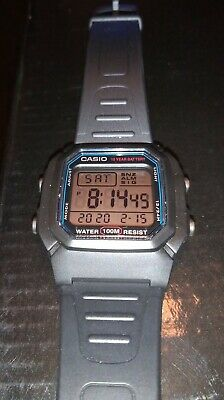 Casio W-800H 3240 Water Resistant 100m Illuminator Digital Day Date Watch