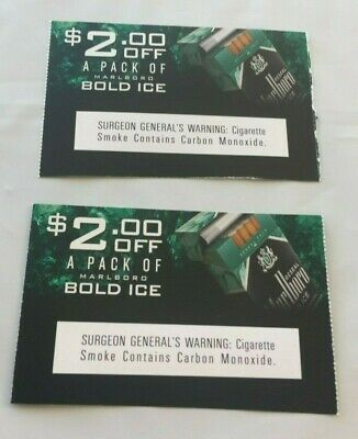 (2) $2.00 off a pack of Bold Ice Marlboro Cigarettes Coupons exp. 05/31/20