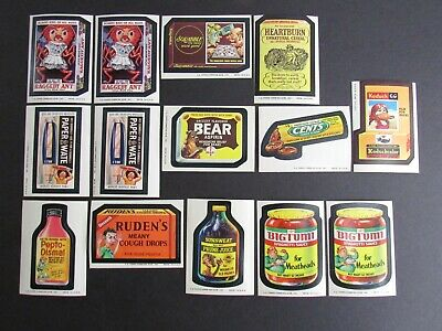 1974 Topps Wacky Packages Series #9-#10 Lot of 14 Sticker Cards