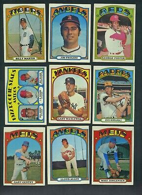 "1972 Topps Baseball - ""Add to Your Set"" - (PICK 4) - VG/Ex - UPDATED"