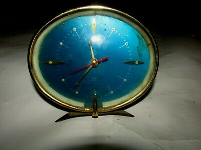 Vintage Alarm Clock Made In China, Very Beautiful And Oval In Shape, Working.