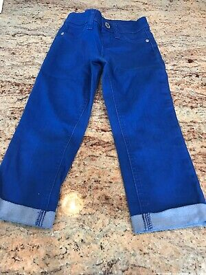 Girls Justice Royal Blue Denim Jeans- Cuffed- Size 7S- EUC.  Adorable!
