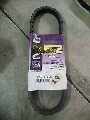 Carlisle Ultimax Max Drive Belt MAX1060M3 x 43 1//2in 1 3//16in