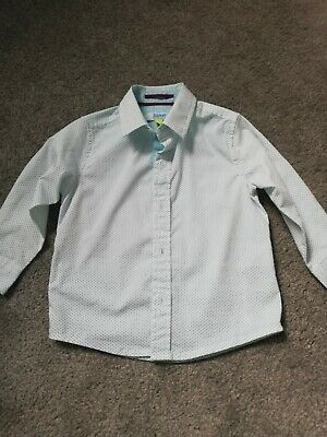 Baby Boy Ted Baker Shirt, Long Sleeve. White With Dots, Age 2. Vgc
