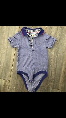 Ted Baker Boys Blue Baby Grow Vest 9-12 Months