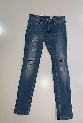 H&M Blue Layered Ripped Jeans Size (age) US 11-12 Yrs