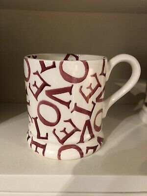 Emma Bridgewater Valentines Red Love all Over 1/2 Pint Mug New & 1st