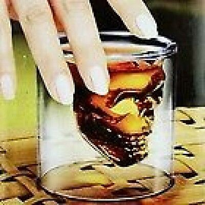 Skull head crystal shot glass holds two ounces a great glass for your bar nice