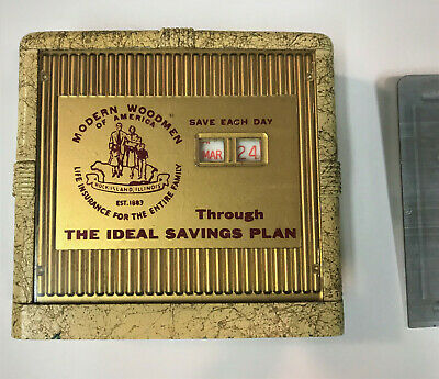 Vintage Banthrico Advertising Bank with out Key - Modern Woodmen Of America