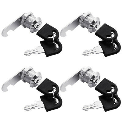 "4 x Tubular Cam Lock 5/8"" keyed alike for Drawer Cabinet Toolbox, RV, Camper"