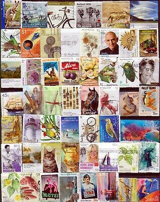 Australian Collection/Mixture 155 Different (3 pages) $1.00 to 45c Used/Bulk