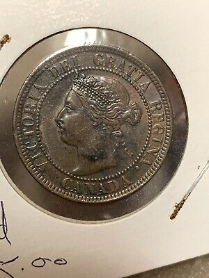 1901**Canada One Large Cent Coin**AU+