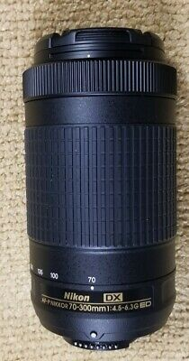 Nikon AF-P Nikkor 70-300mm F/4.5-6.3G ED DX Lens w/Cap New Never Used