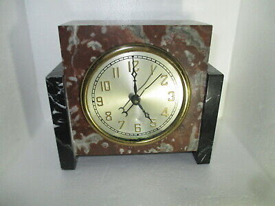 Vintage Hammond Art Deco Marble Clock Electric Parts Repair