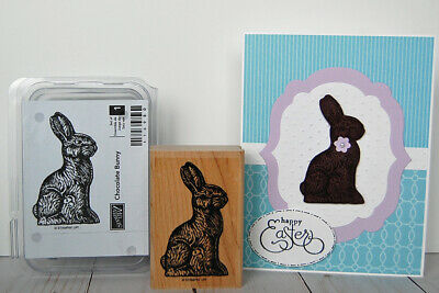 Chocolate Bunny Rubber Stamp Easter Rabbit