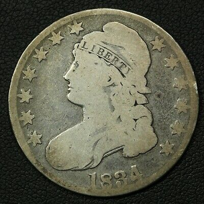 1834 Capped Bust Silver Half Dollar - Cleaned