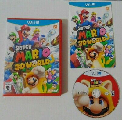 Wii U Super Mario 3D World in RED case TESTED & WORKS - COMPLETE